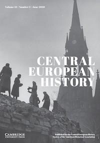 Central European History Journal Cover, June 2020